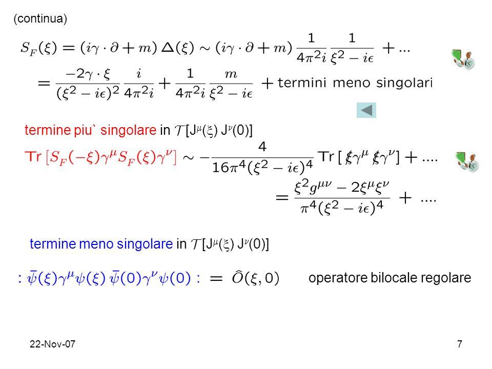 termine piu` singolare in T [J() J(0)]